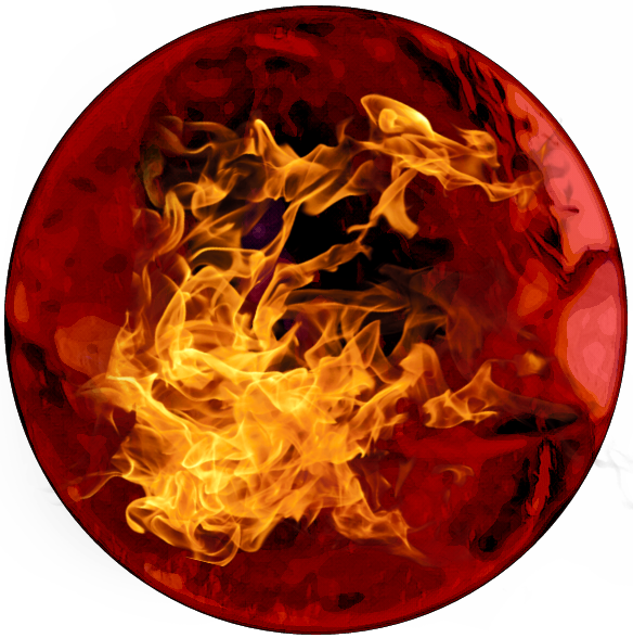 Heat clipart fuego. Fire circle red c