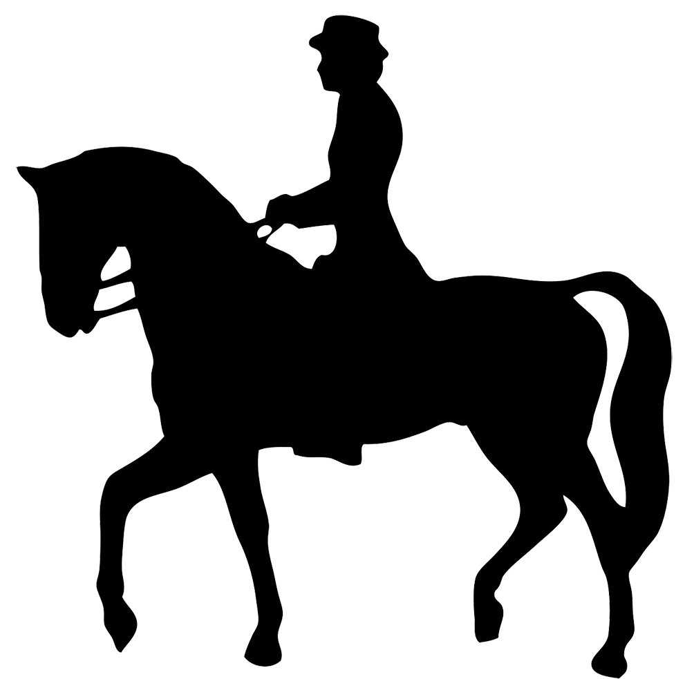 Silhouette pictures of horses. Gear clipart horse riding