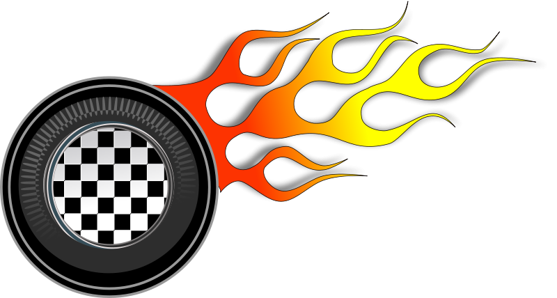 Flames car burnout free. Race clipart drag race
