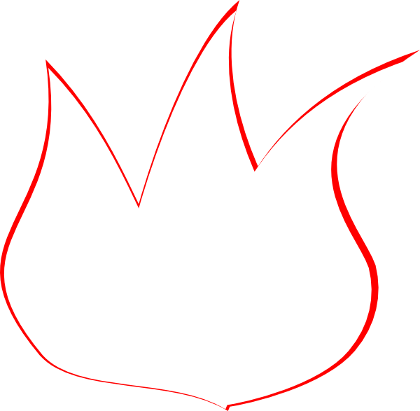 Flame clipart outline. Cliparts zone clip art