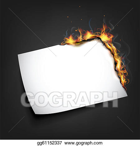 Flames clipart paper. Eps illustration fire in