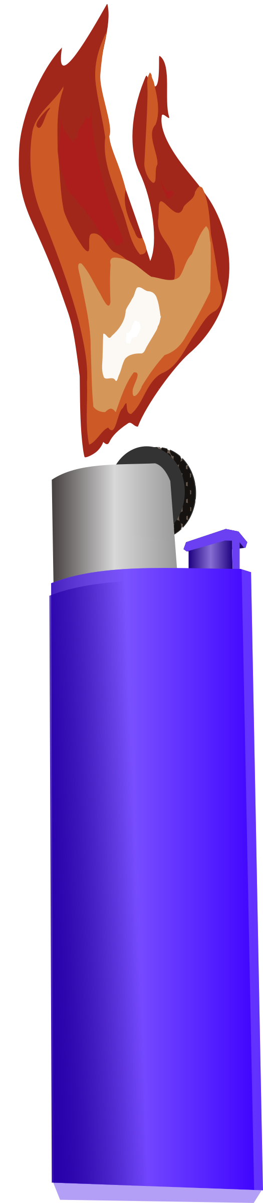 Flames clipart royalty free. Lighter with flame big