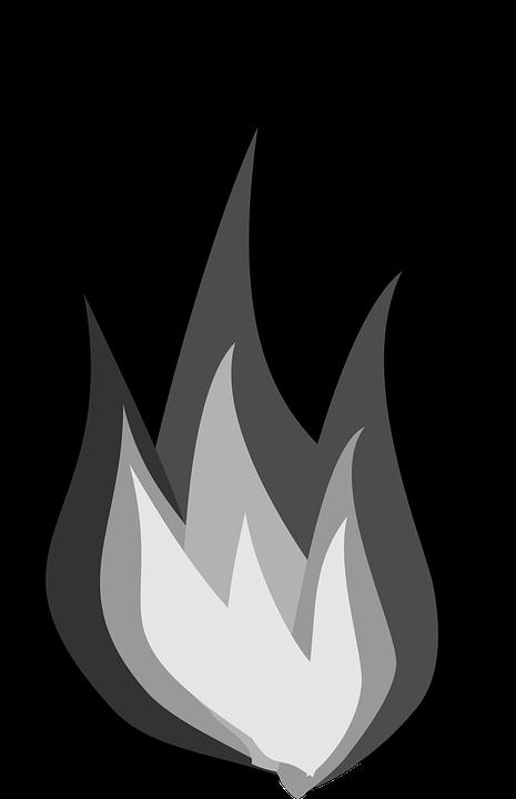 Heat clipart clip art. Fire flames black and