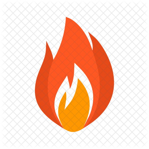Industry infastructure icons in. Flame icon png