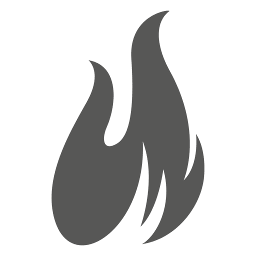 Flames vector png. Fire flame icon silhouette