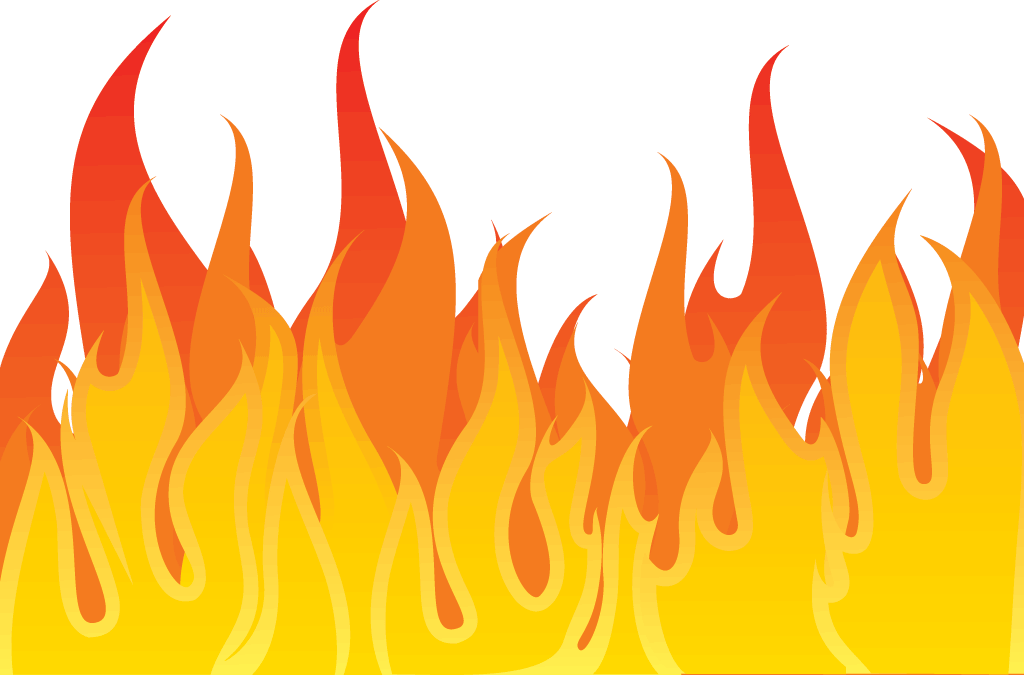 collection of flames. Fireplace clipart background