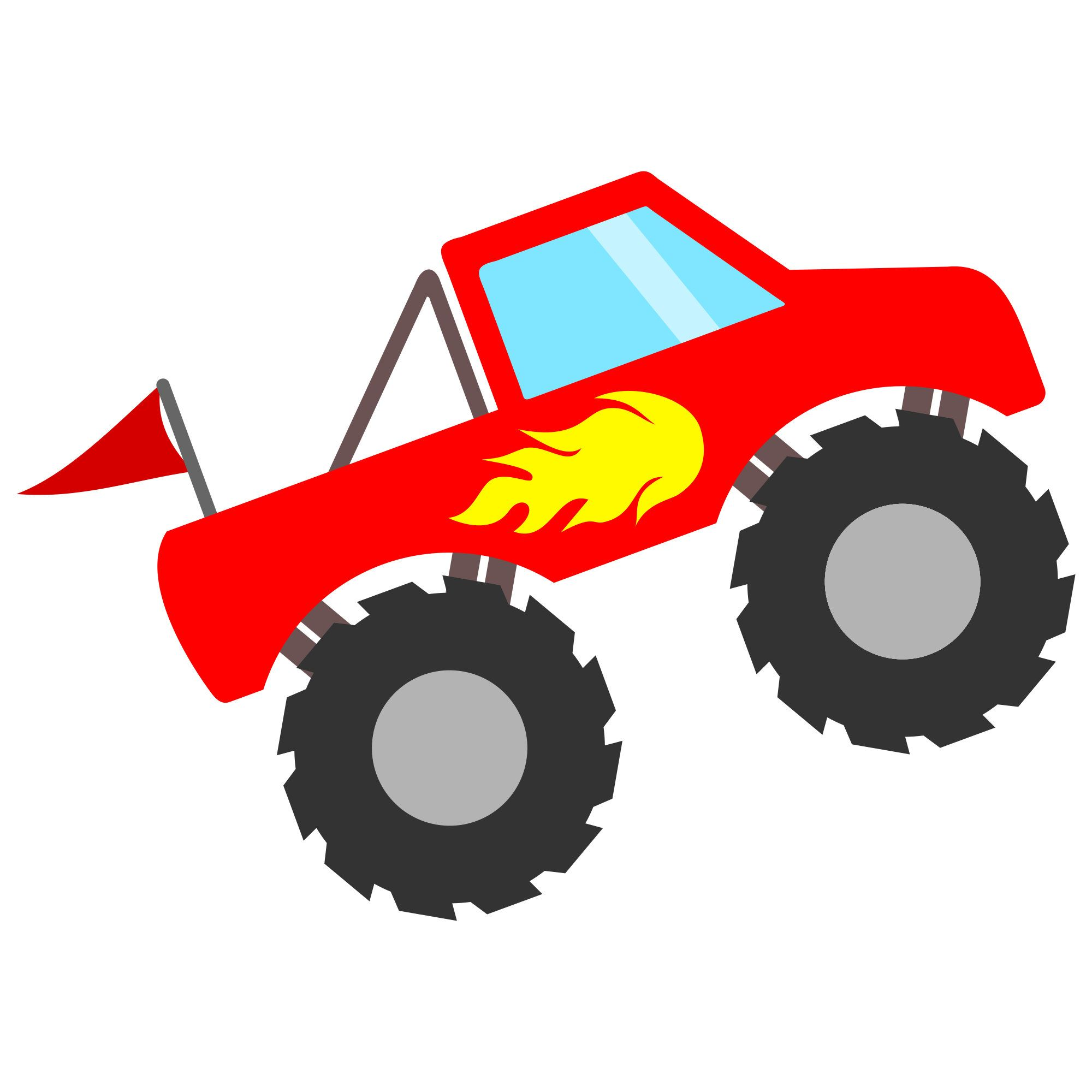 Truck with svg file. Flames clipart blaze and the monster machines