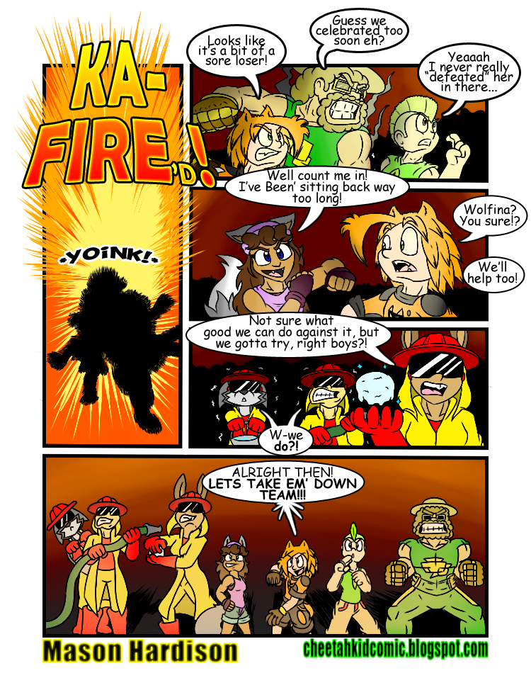 Flames clipart comic. Cheetah kid actually fighting