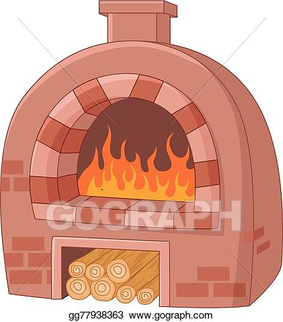 Eps illustration cartoon traditional. Flames clipart fire oven