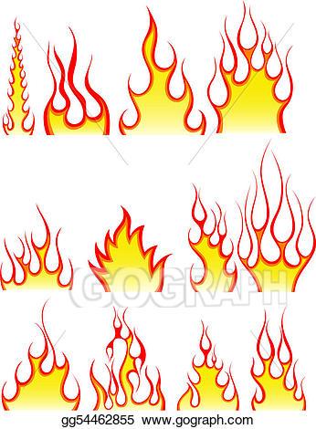 Flames clipart fire pattern. Vector patterns set illustration