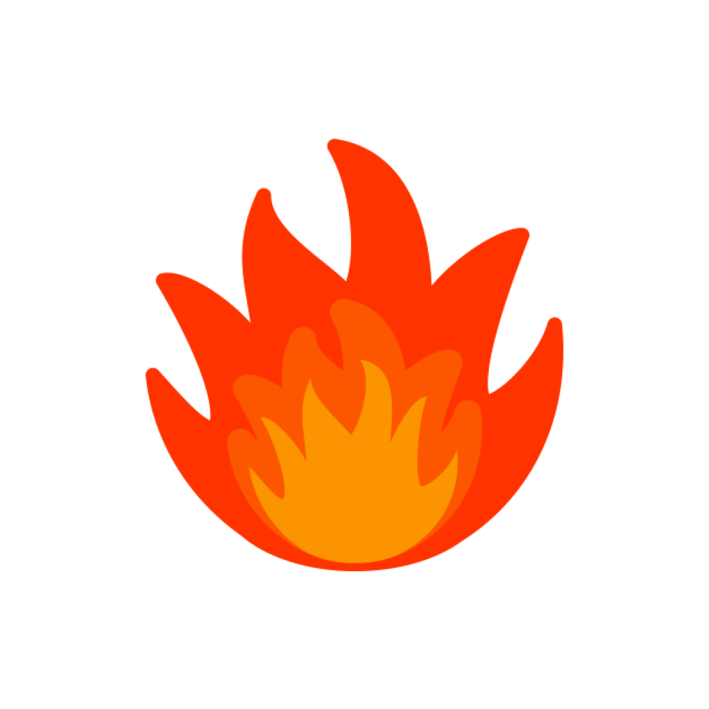 flames clipart gold