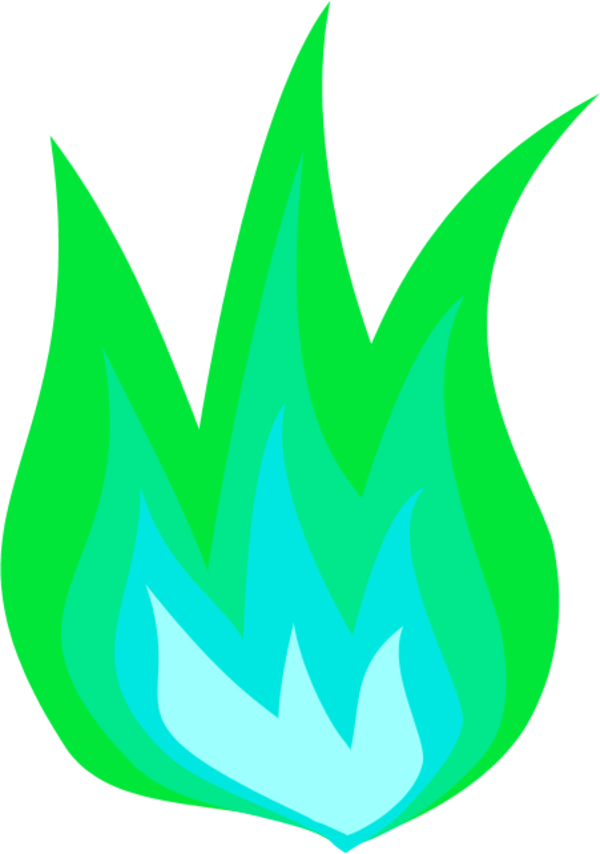 Flame . Flames clipart green fire