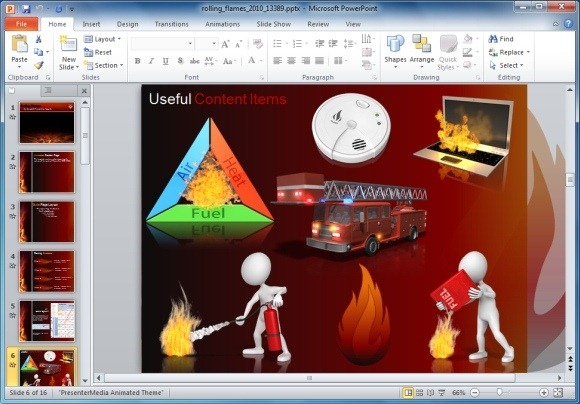 Animated template and . Flames clipart powerpoint