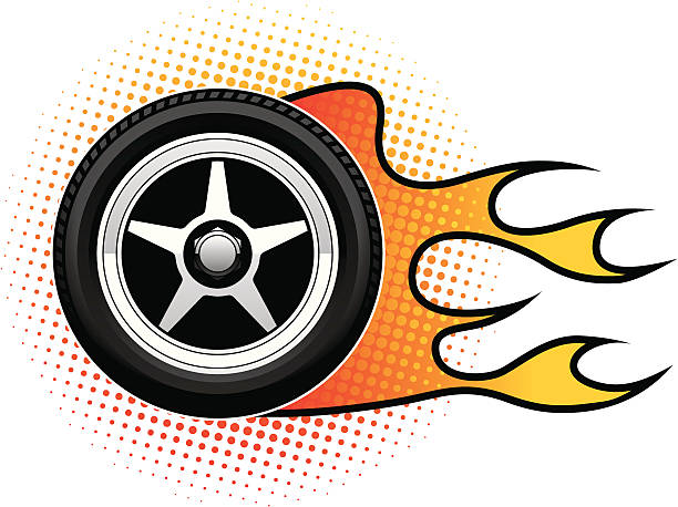 Flames clipart racing wheels. Free download best on