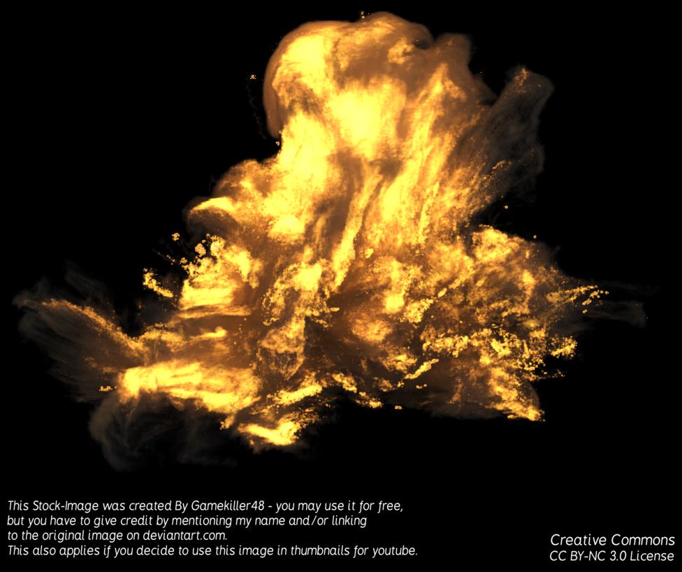 By gamekiller deviantart com. Flames clipart realistic explosion