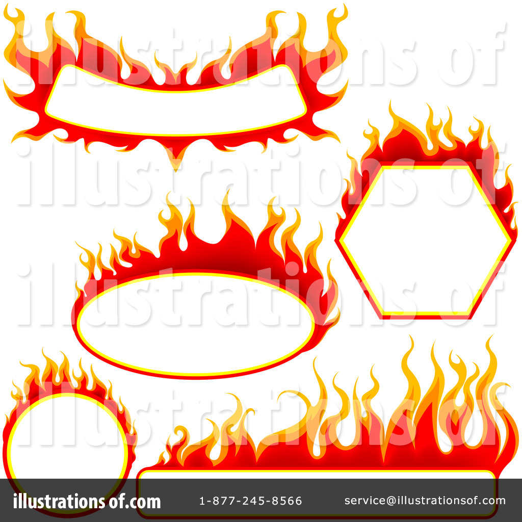 Illustration by dero . Flames clipart royalty free