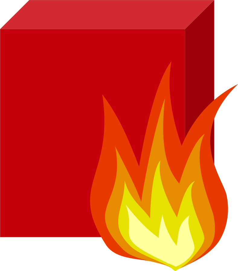 Fire red art vector. Flames clipart royalty free