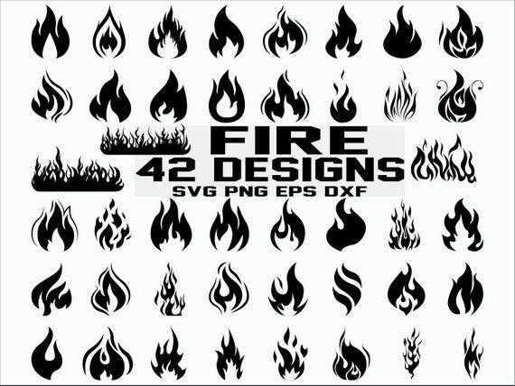 Flames clipart svg. Flame fire cricut files