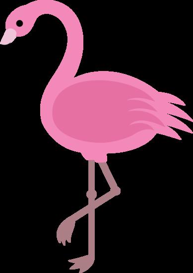 Elegant pink clip art. Flamingo clipart