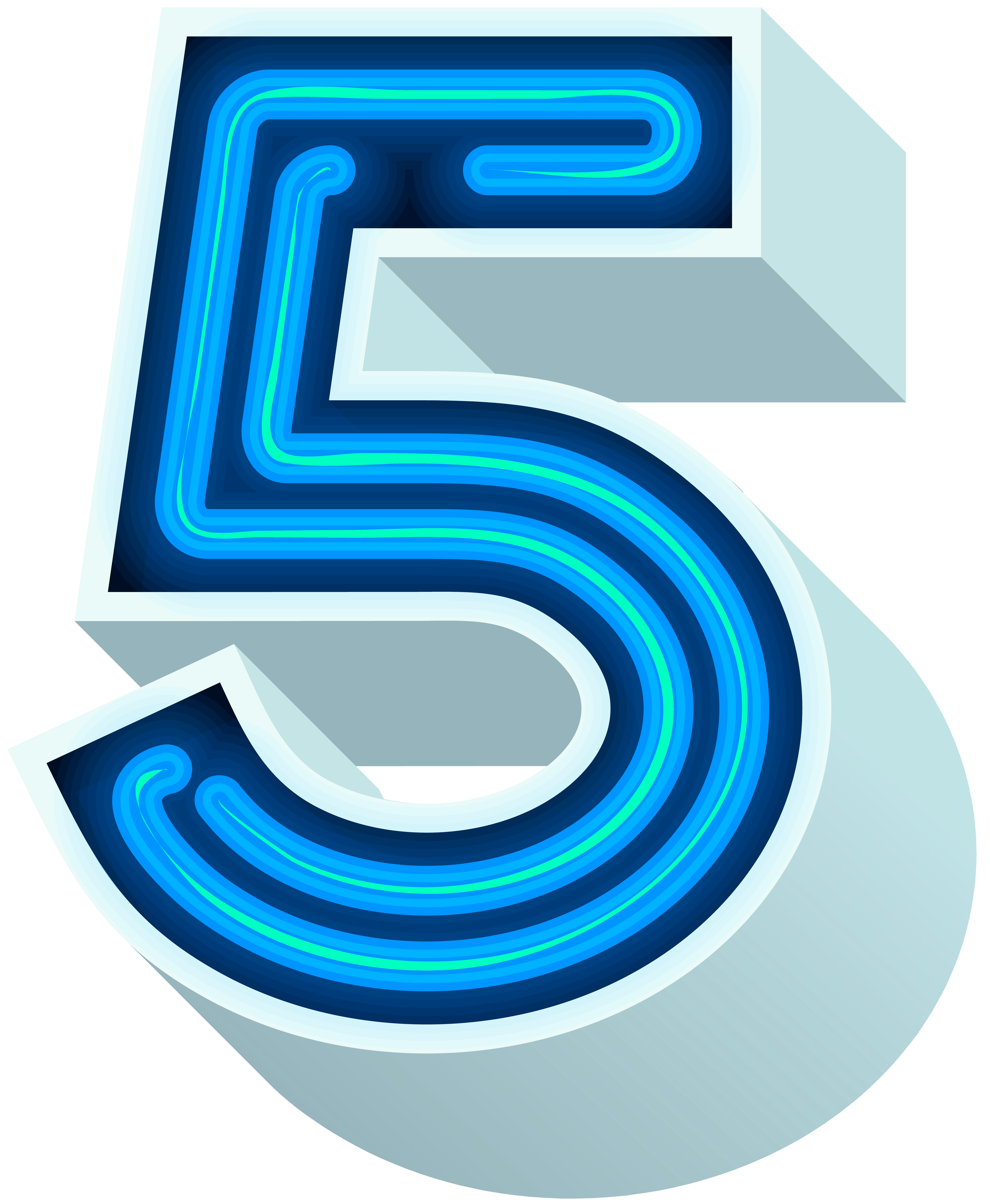 Number neon blue png. Flamingo clipart five