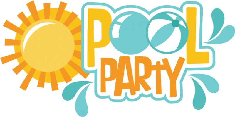 Pool party svg scrapbook. Words clipart swimming