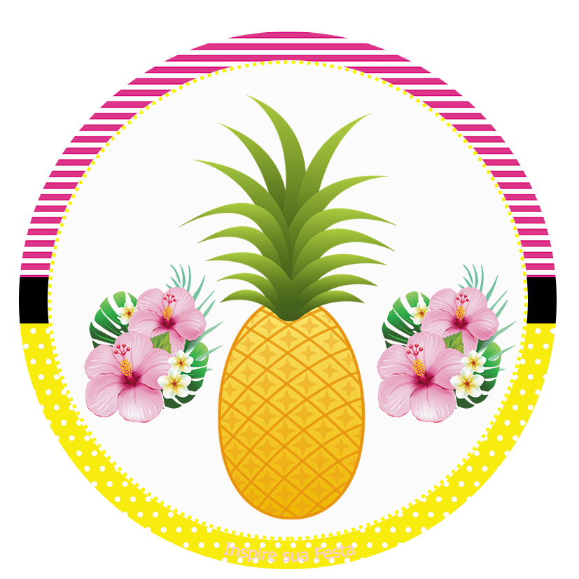 Pineapple clipart flamingo. Personalizados gratuitos inspire sua