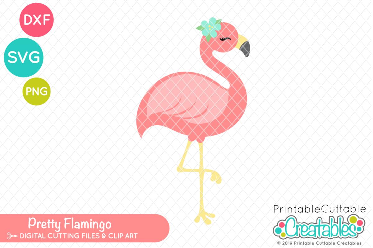 Pretty svg . Flamingo clipart pdf