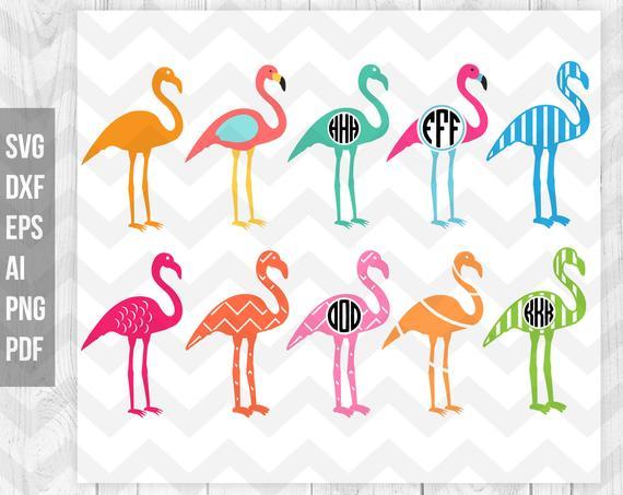 Flamingo clipart pdf. Svg monogram cricut silhouette