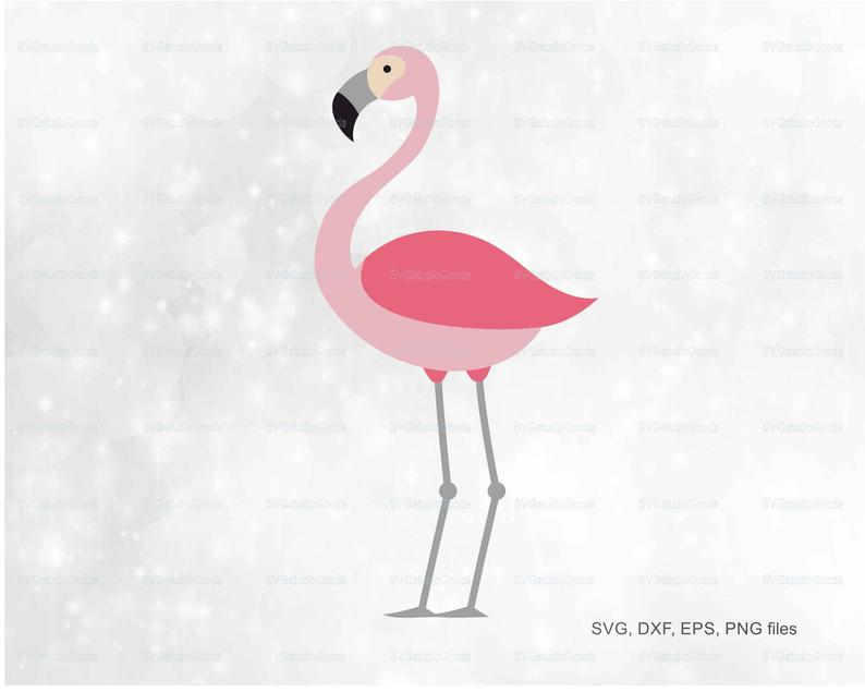 Flamingo clipart pdf. Silhouette svg eps dxf