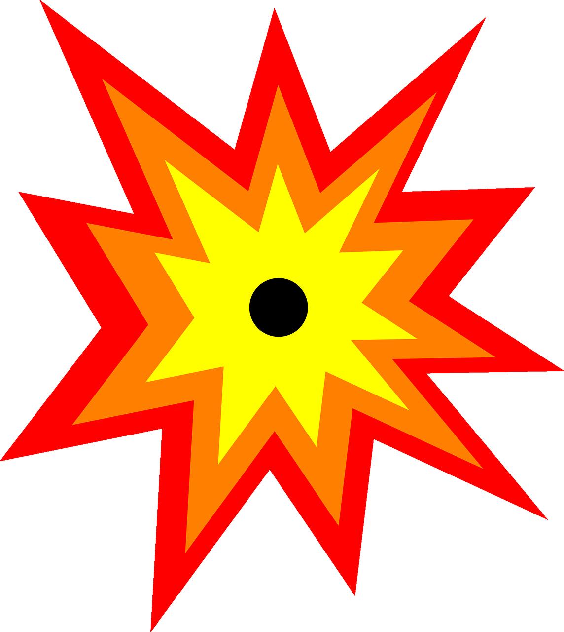 Burst clipart explosion. Free image on pixabay