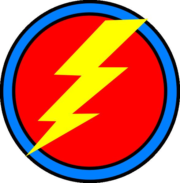 Lightning clipart red yellow. Emblem clip art at
