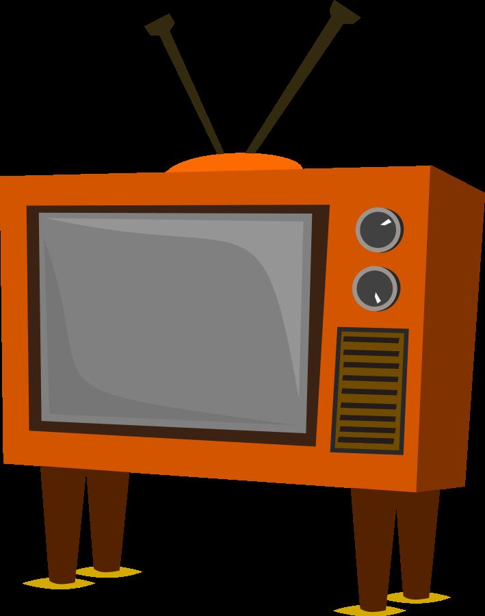 Tv clip art vector. Writer clipart testing