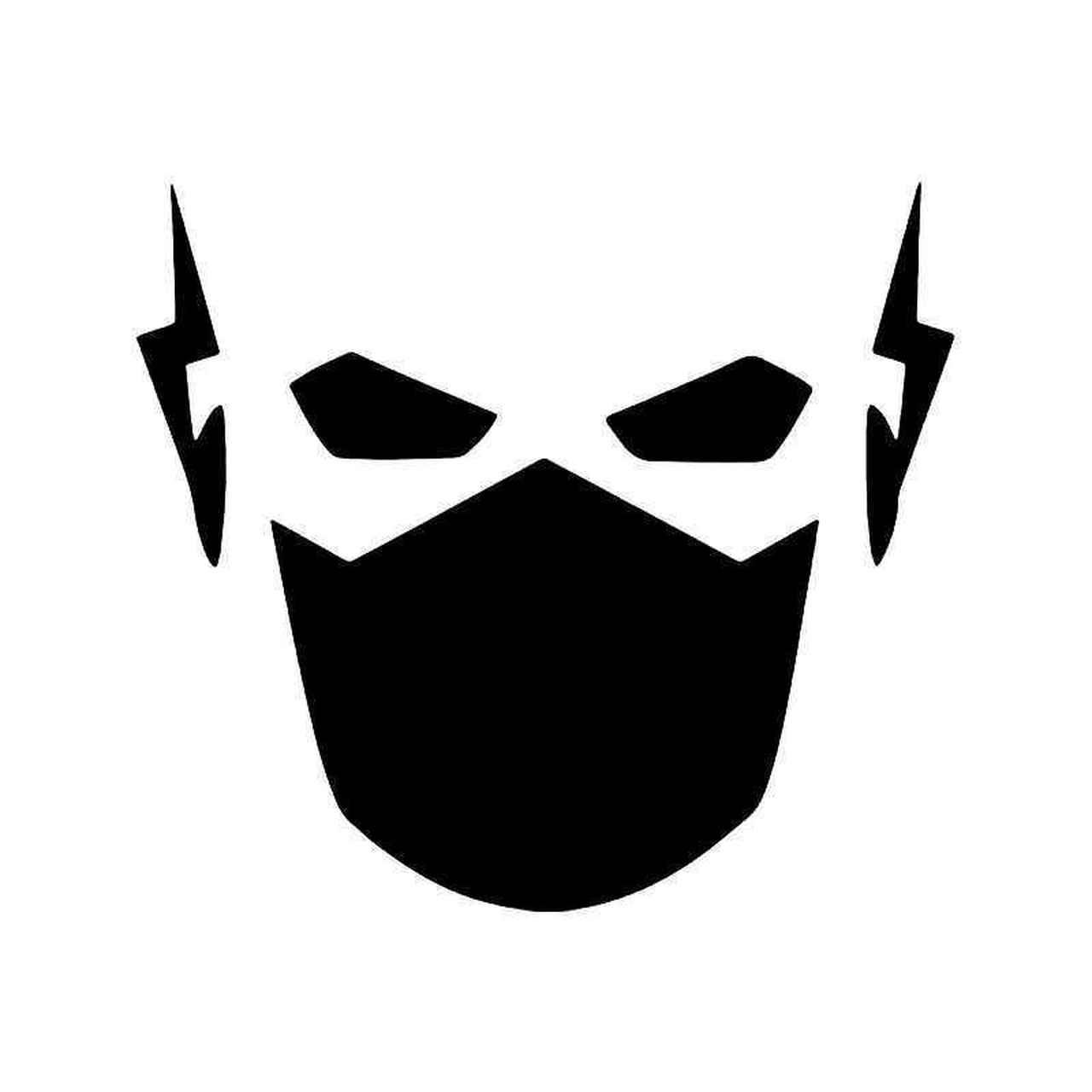 Mask vinyl sticker . Flash clipart flash face