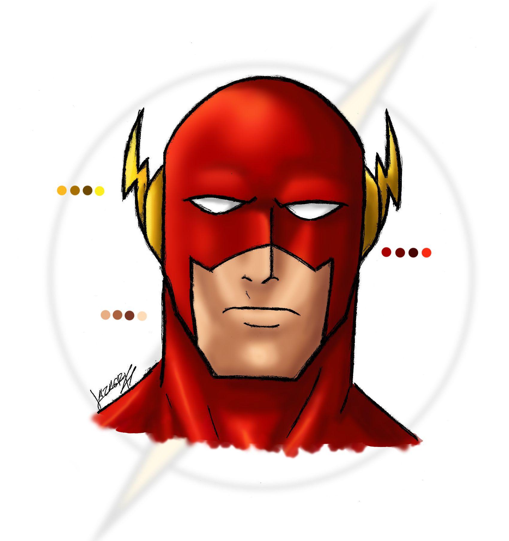 Flash clipart flash face. The cartoon style