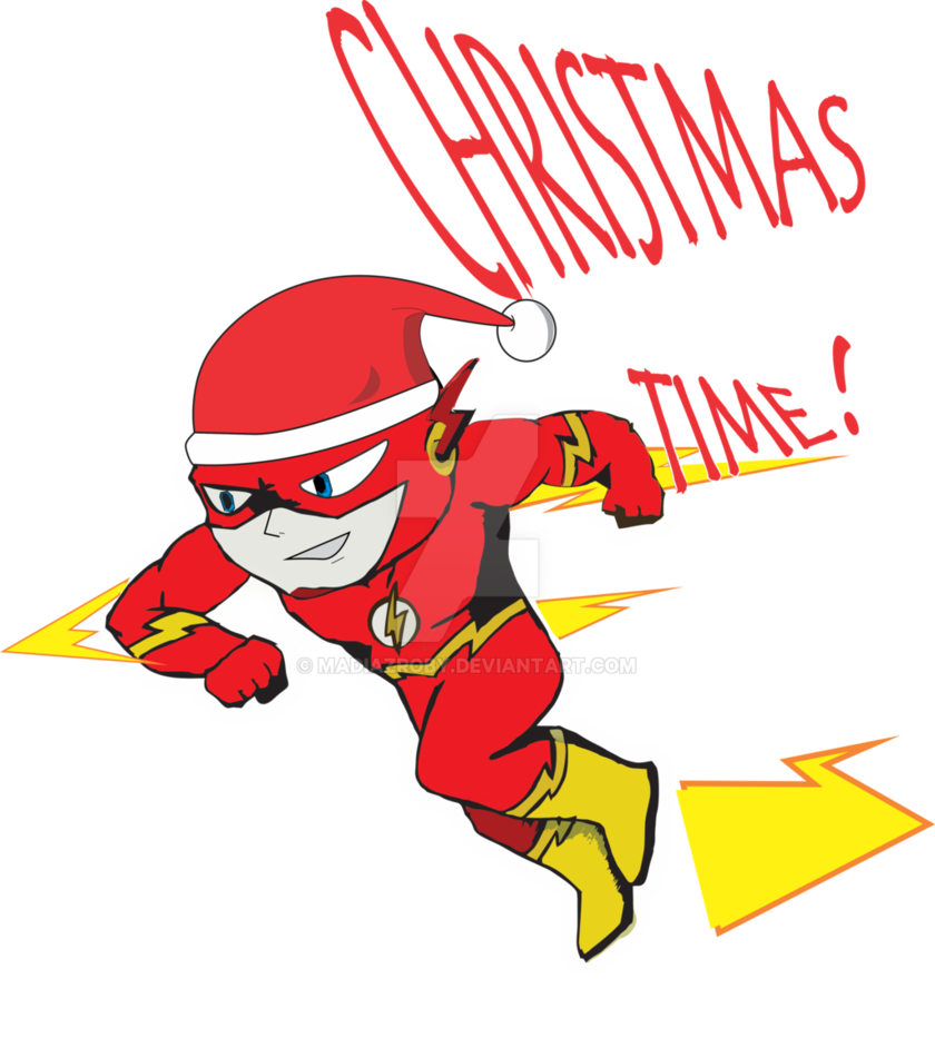 The christmas by madiazroby. Flash clipart flash superhero
