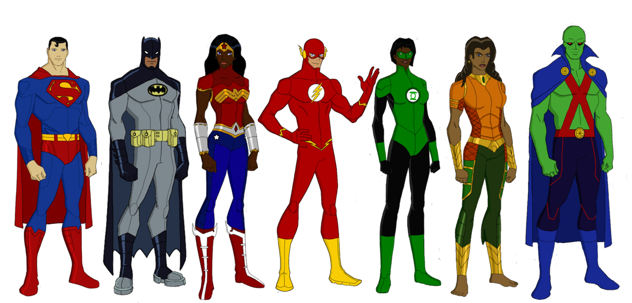 Superheroes clipart justice league. Elseworlds by jsenior on