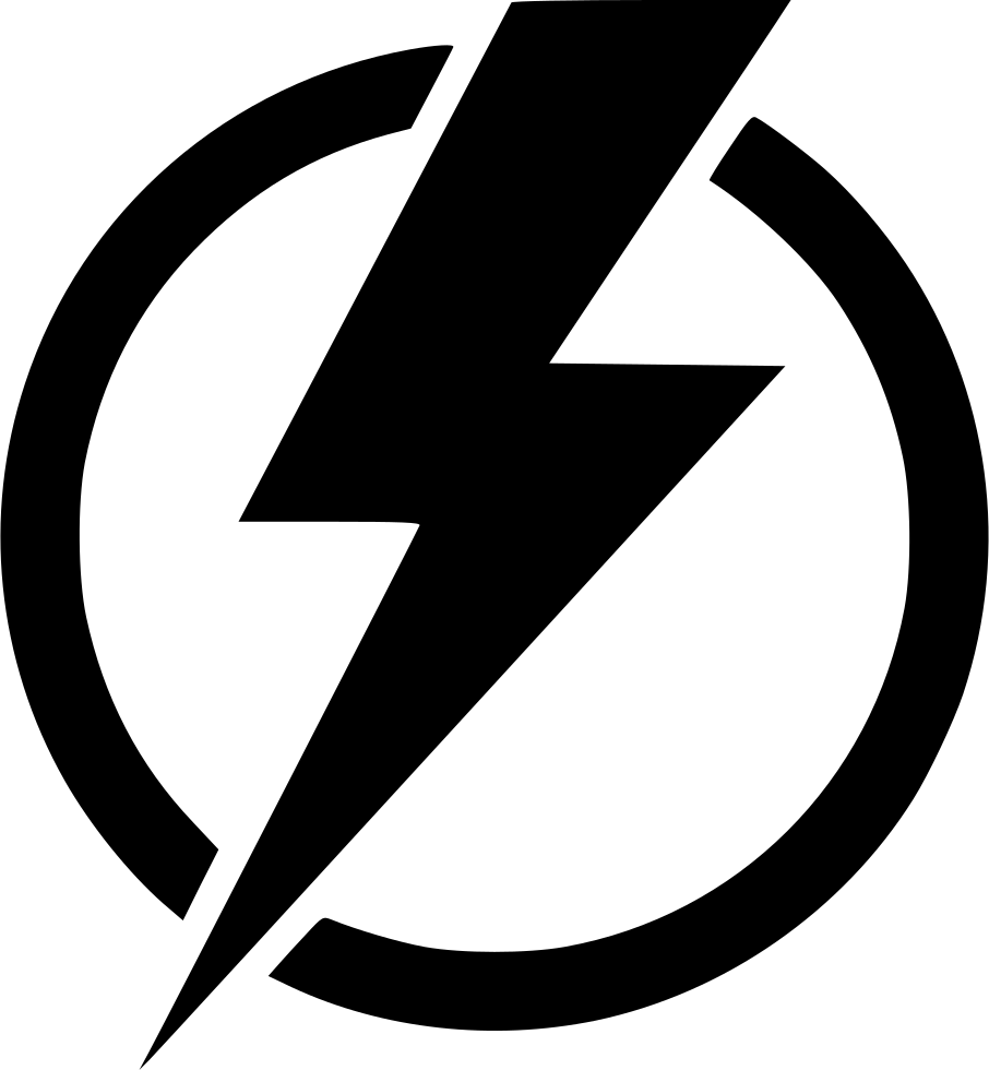 Electrical power symbol . Lightning clipart royalty free