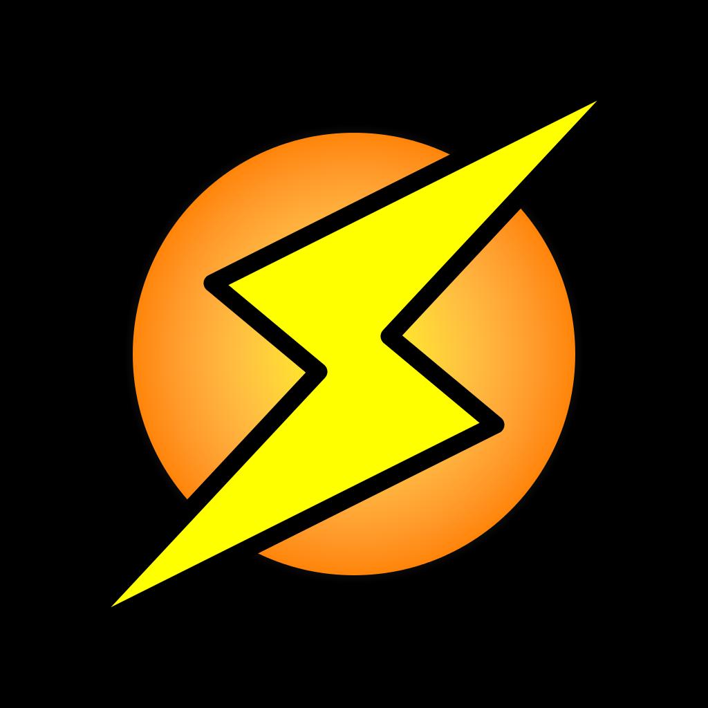 lightning clipart svg
