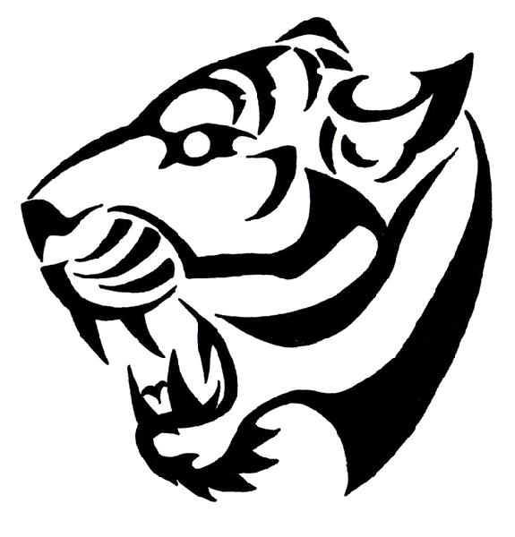 Tiger tribal art tattoos. Flash clipart photograph