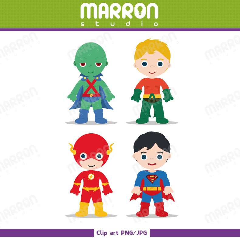 Superhero inspired justice league. Flash clipart small