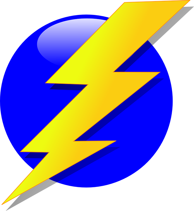 Lightning clipart coloring page. Collection of free electricities