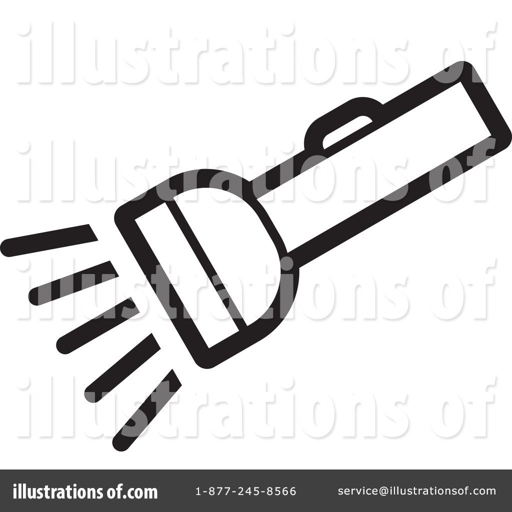 Illustration by lal perera. Flashlight clipart