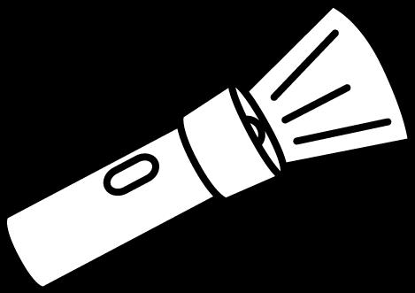 Free flash light cliparts. Flashlight clipart black and white