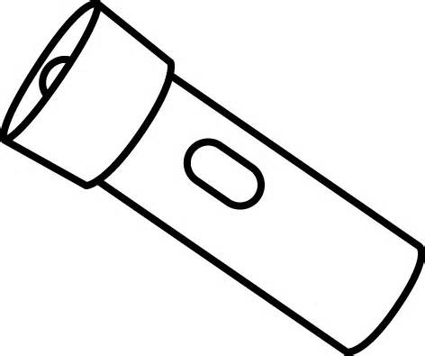 Free cliparts download clip. Flashlight clipart black and white