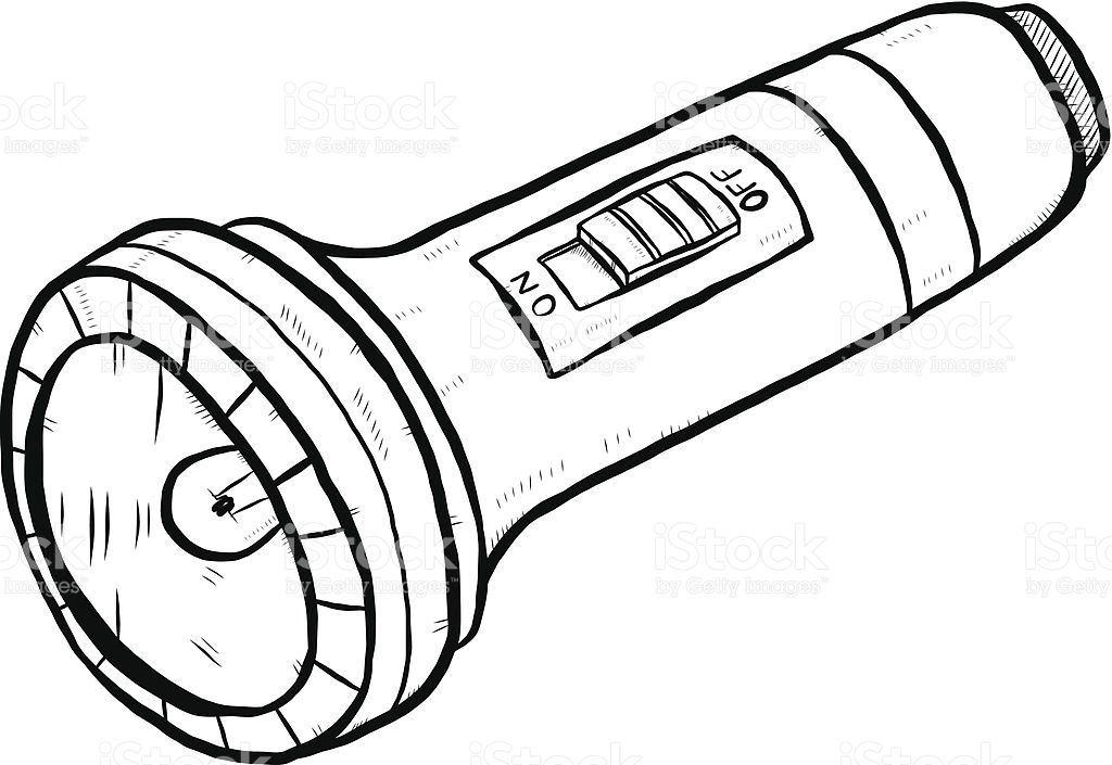 Flashlight clipart black and white. Google search