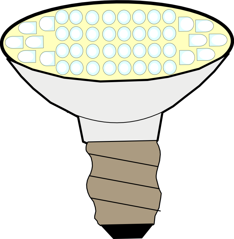 Led light clip art. Lightbulb clipart lighted bulb