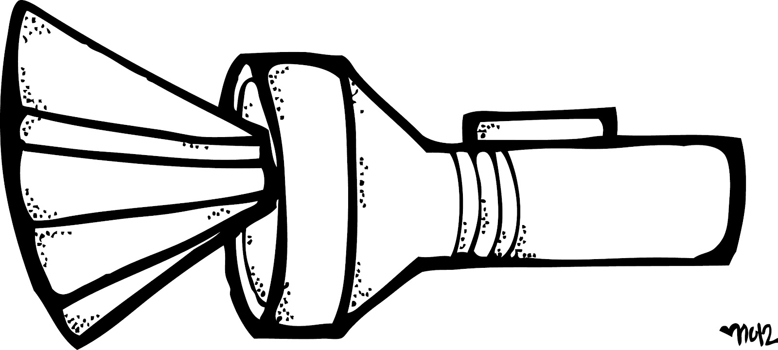 Free flash light cliparts. Flashlight clipart coloring page