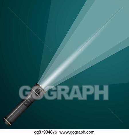 Eps vector of light. Flashlight clipart flashlight beam