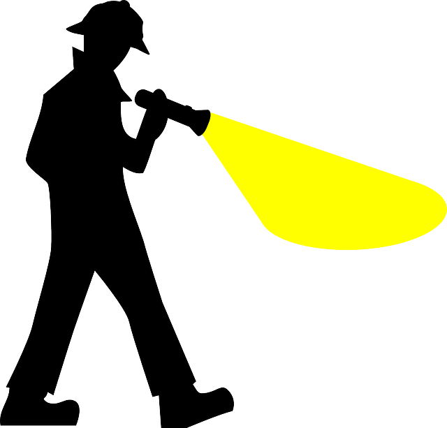 Searching for the best. Flashlight clipart flashlight beam