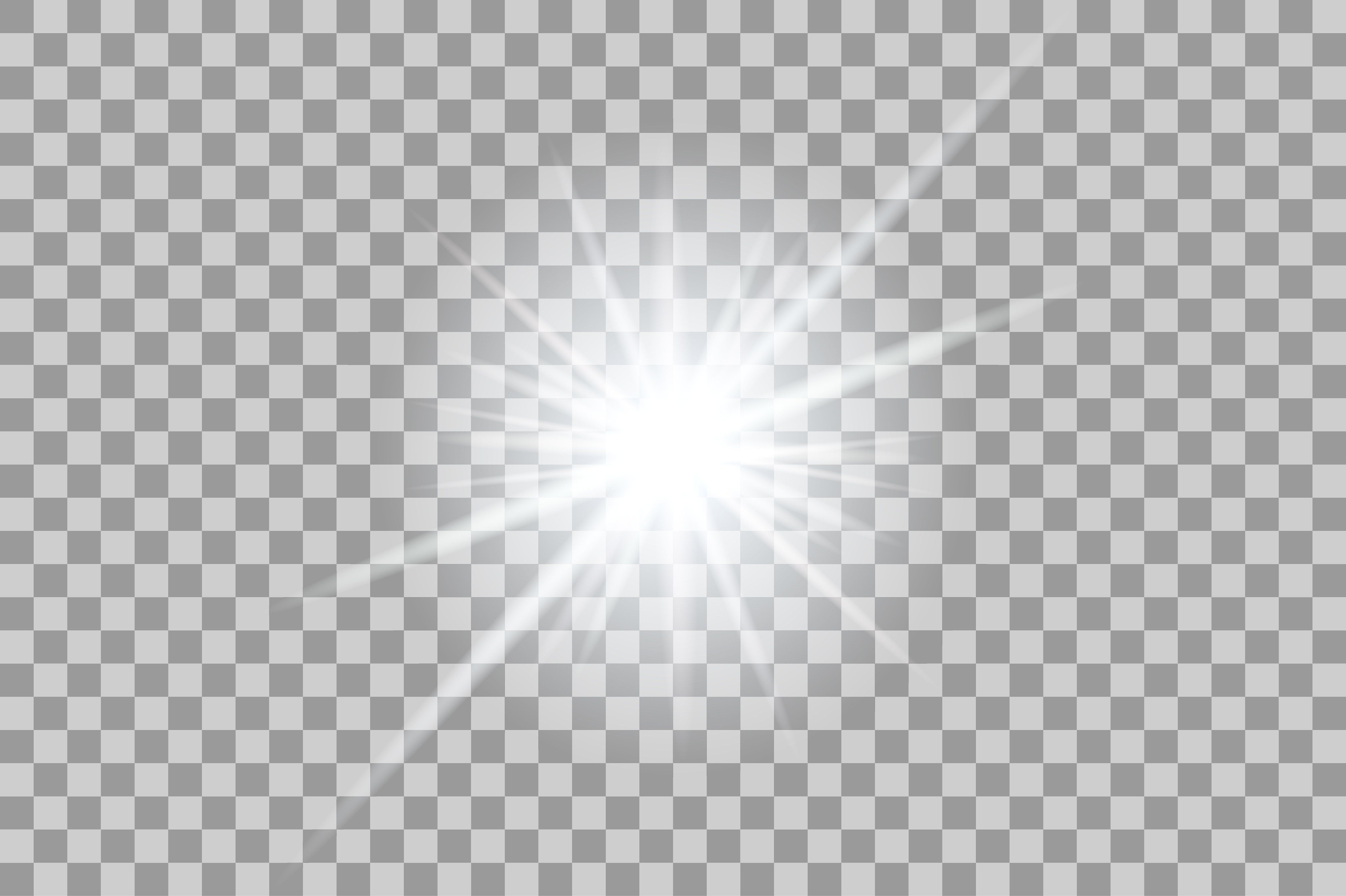 Flashlight clipart glow. Vector white light effects